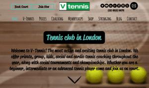 V-Tennis Website Design Project