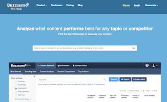 Content Marketing Software (Buzzsumo)