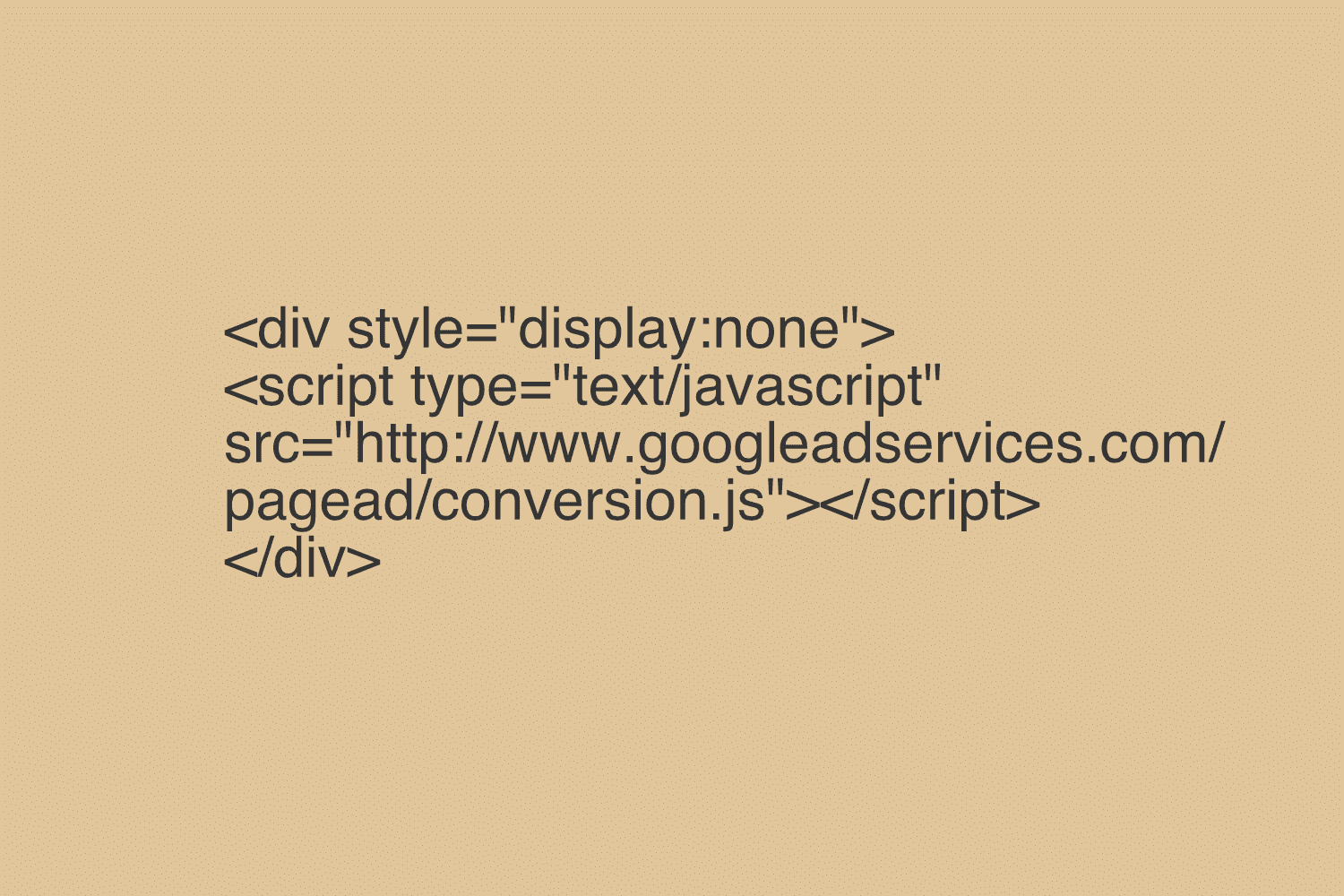 Installing Google Adwords Remarketing Tag (Without White Space)