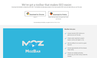 SEO ToolBar (MozBar)