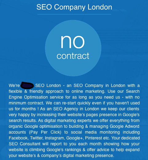 SEO Agency Example