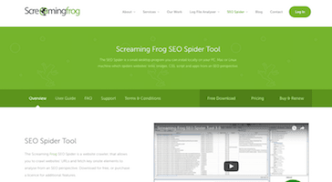 Screaming Frog Technical SEO Tool