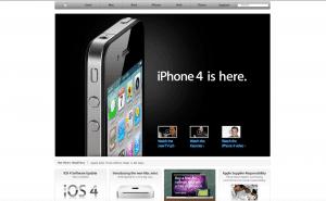 Apple Website 2010