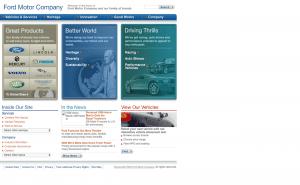 Ford Website 2005