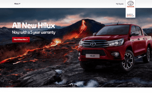 Toyota Website After