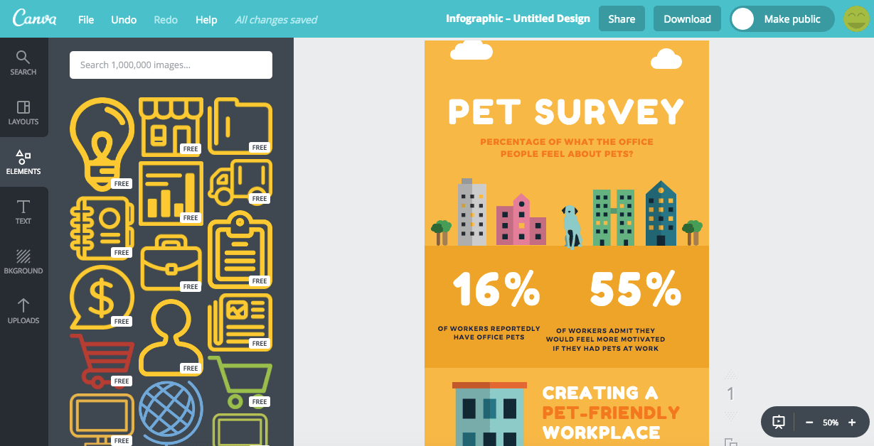 Canva Infographics Tools