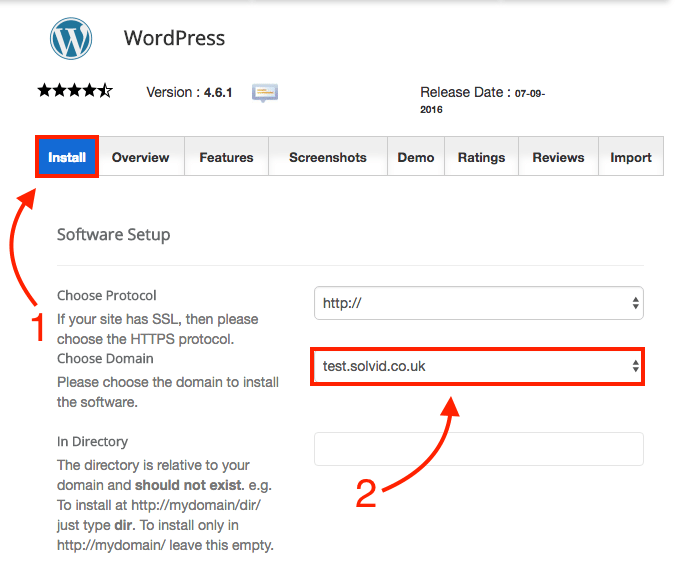 Installing WordPress on a Subdomain