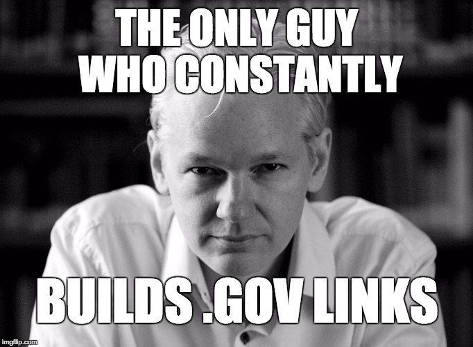 Julian Assange SEO Meme