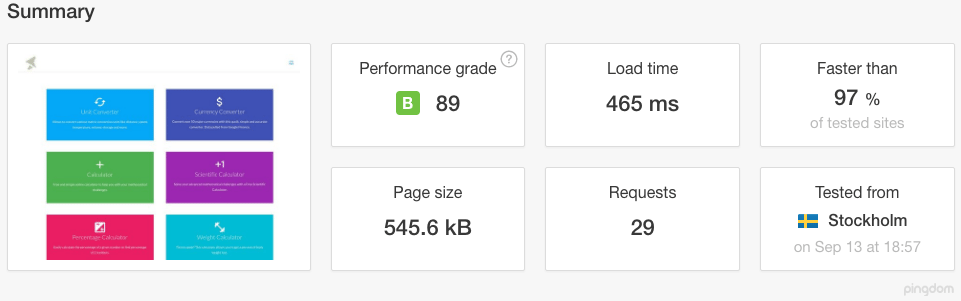 Online Tools Website Speed
