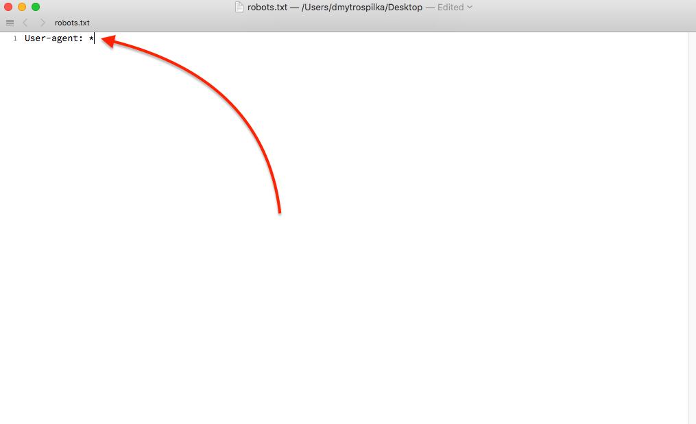 Creating Robots.txt file Step 2