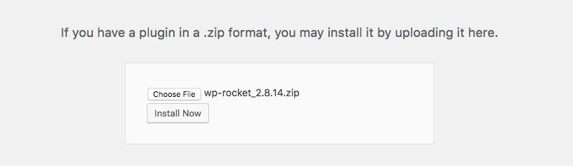 Upload WP-Rocket
