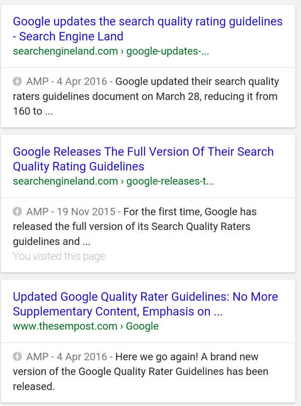 AMP Example (Search Results)