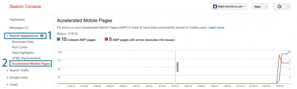 Search Console AMP Errors
