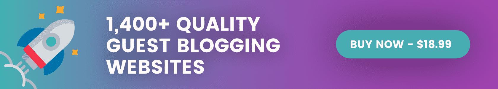 1,400+ Quality Guest Blogging Websites
