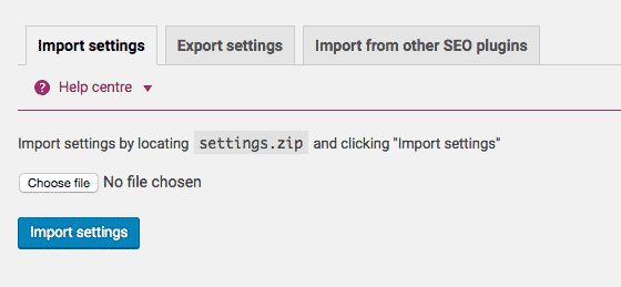 Yoast SEO Import & Export Feature