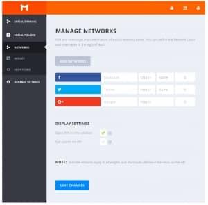 Monarch Plugin Social Follow Networks Options