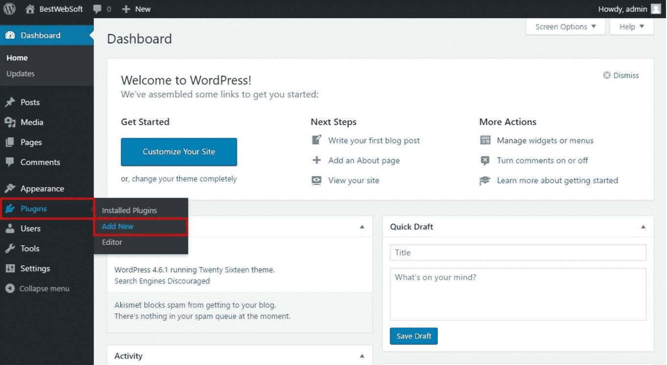 Installing Google Captcha Plugin in WordPress