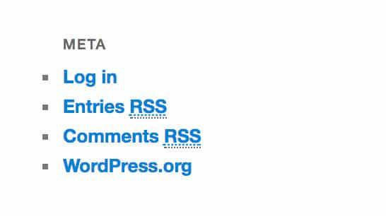 WordPress Meta Login Link