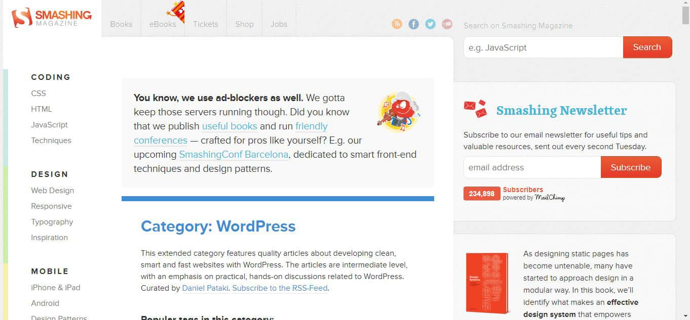 Smashing Magazine WordPress Blog