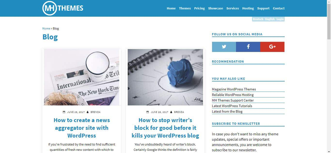 MH Themes WordPress Blog