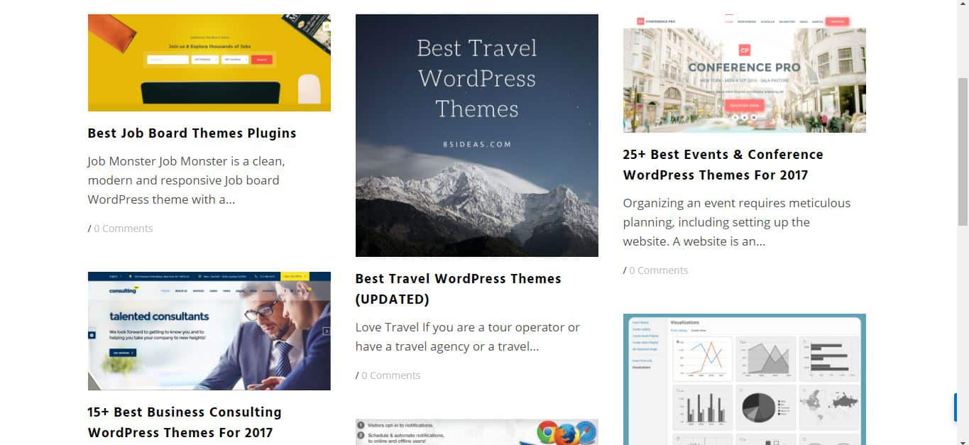 85 Ideas WordPress Blog