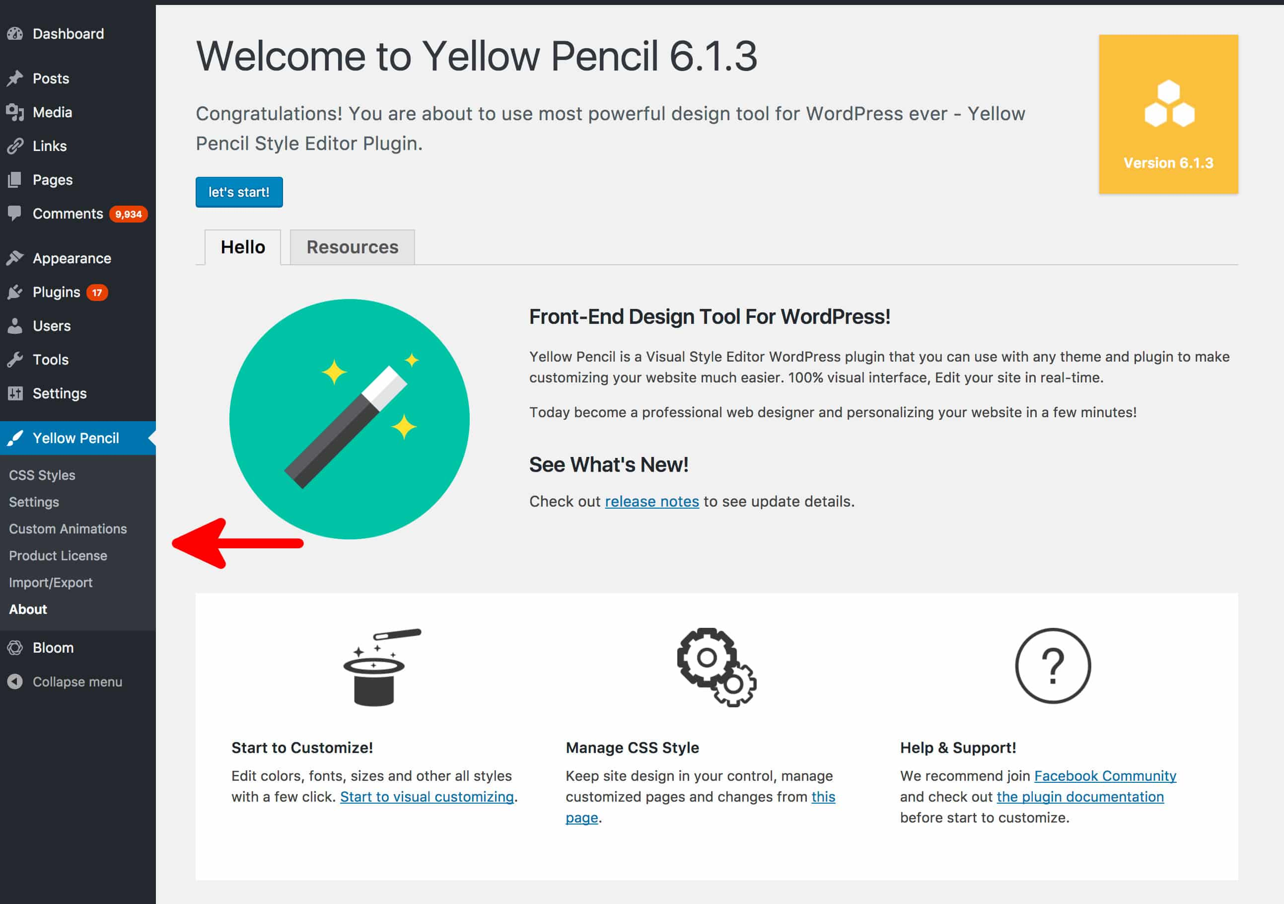 Using & Configuring Yellow Pencil Visual CSS Editor Plugin For WordPress