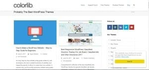 Colorlib WordPress Category Blog