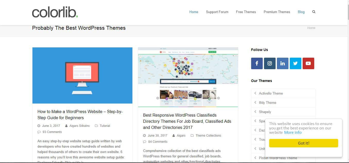 Colorlib WordPress Category Blog