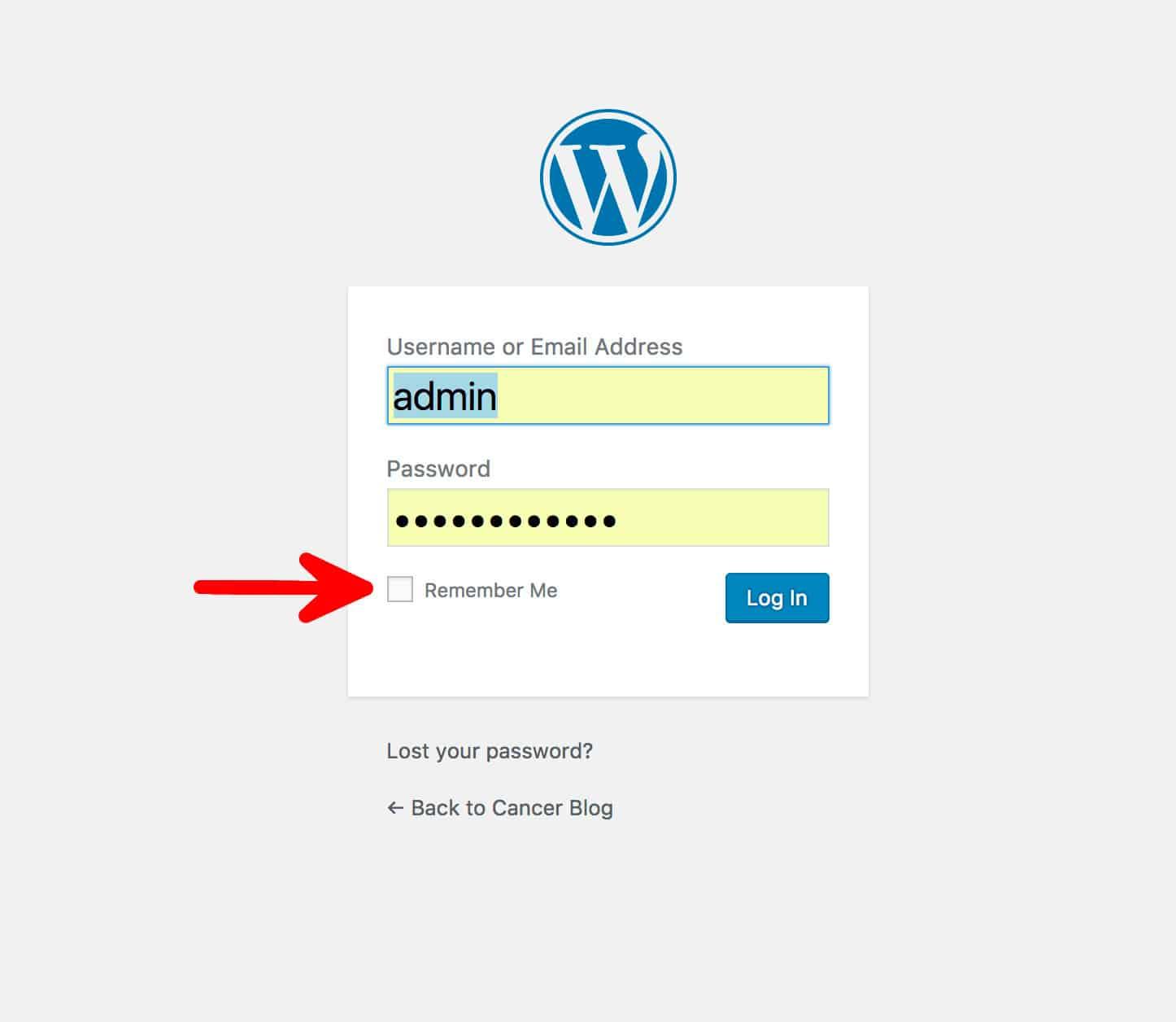 WordPress Remember Me Login Option