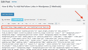 Adding NoFollow Links In WordPress Manually
