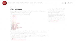 CNET RSS feeds