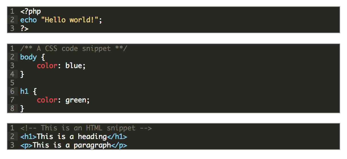 Crayon Syntax Highlighter Plugin Code Snippet Example