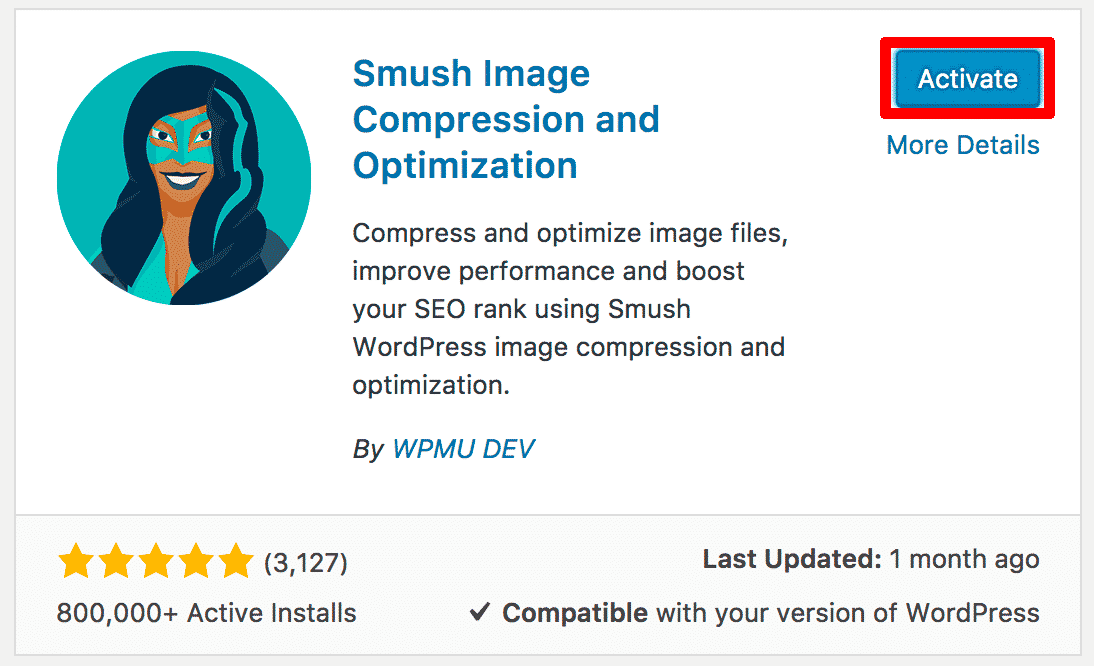 Activating WP Smush It Plugin