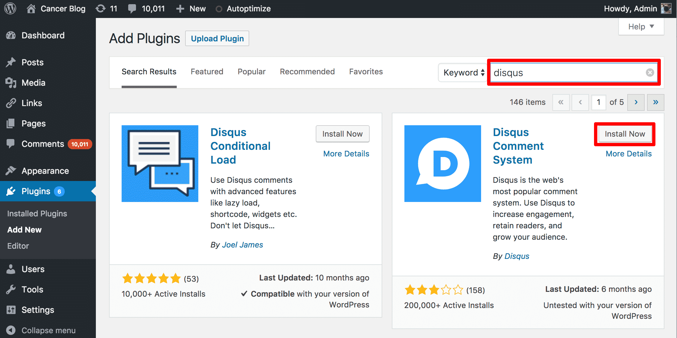 Adding Disqus Plugin To WordPress