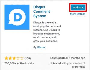 Activating Disqus Plugin
