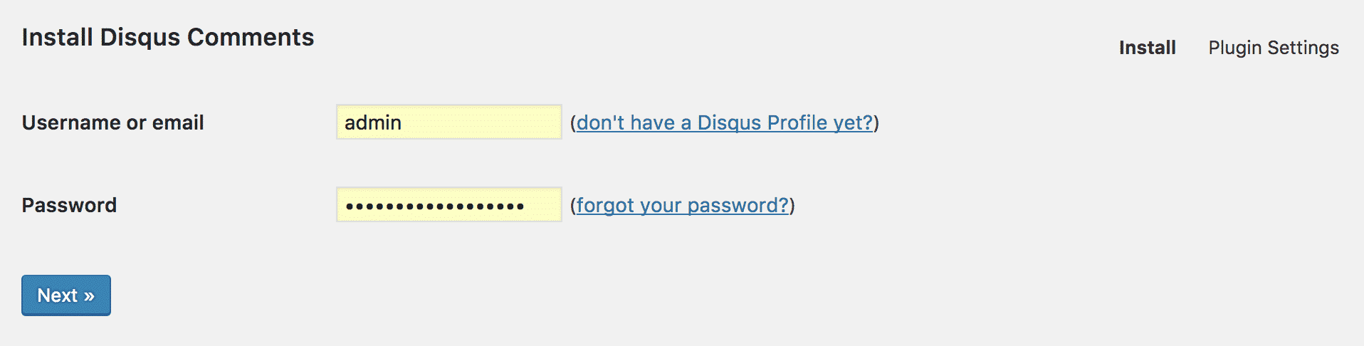 Logging in to Disqus Comment System