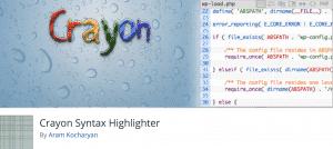 Crayon Syntax Highlighter Plugin WordPress