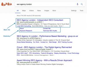 Google AdWords Ads Example