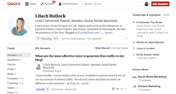Lilach Bullock on Quora