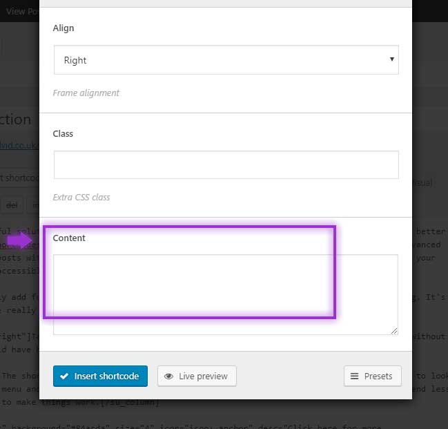 Content Option Shortcodes Ultimate Plugin