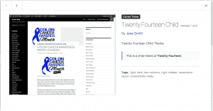 Adding a screenshot to wordpress child theme