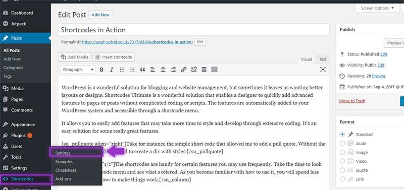 Editing Shortcodes - Shortcodes Ultimate Plugin