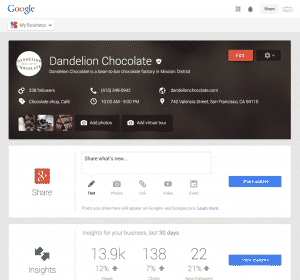 Google My Business Page Example