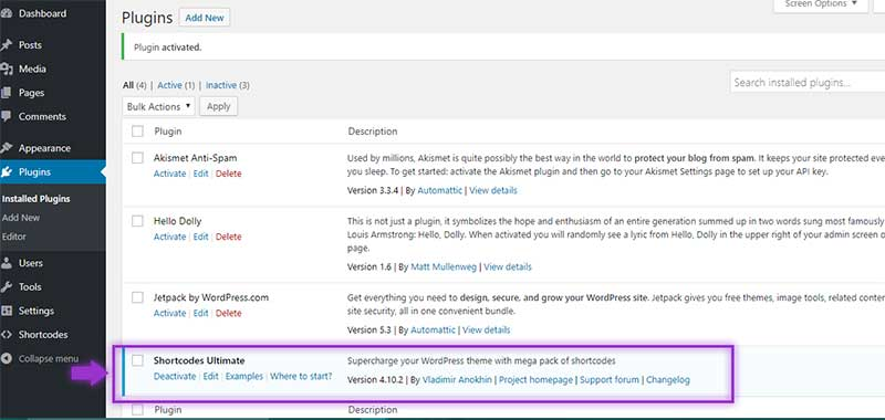 Wordpress New Plugin Screen