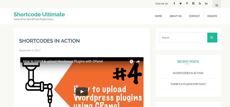 Video Shortcode For WordPress