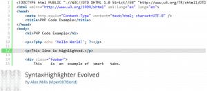 SyntaxHighlighter Evolved Plugin