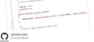 oEmbed Gist WordPress Plugin