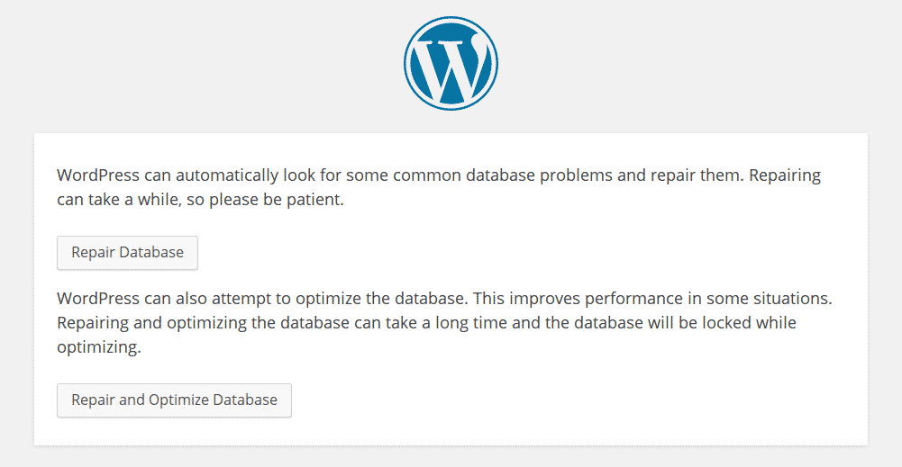 Repair Database WordPress