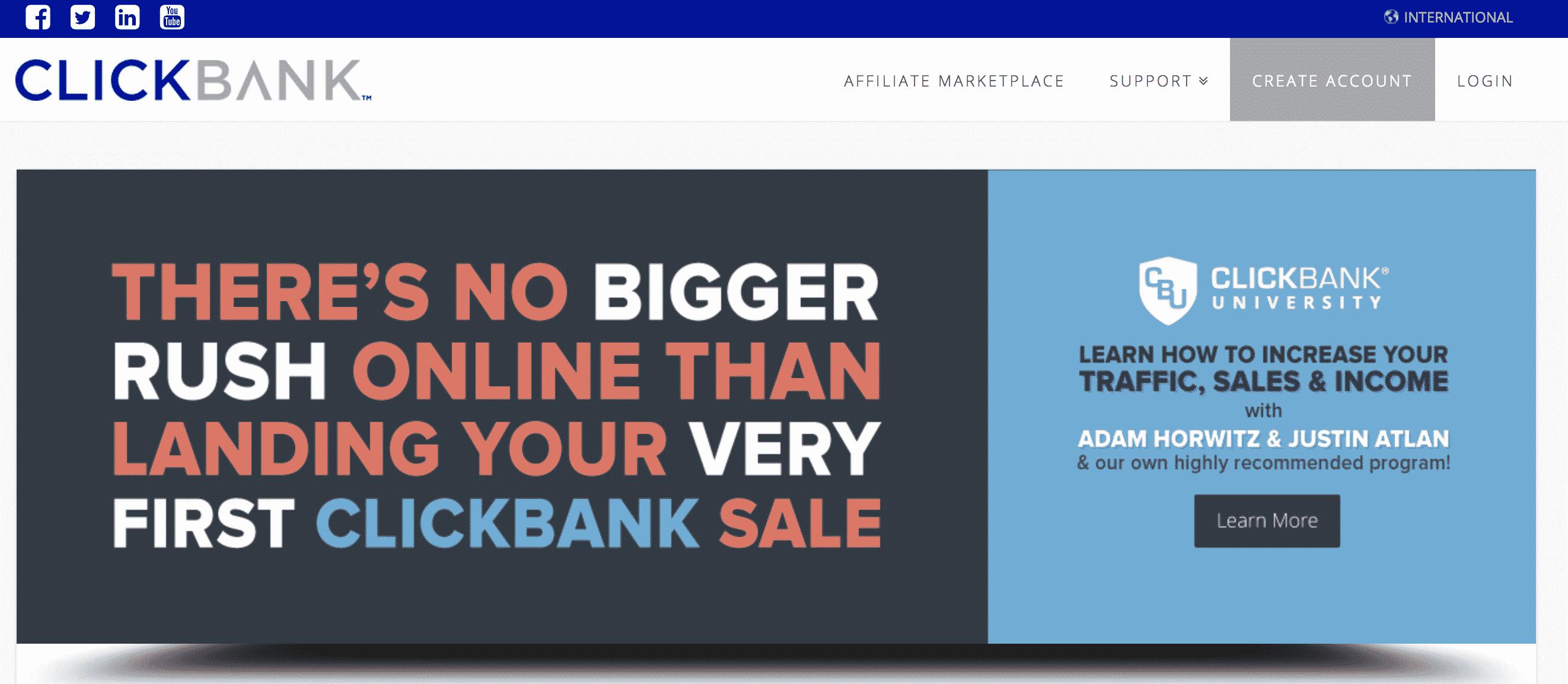 Clickbank Affiliate Marketing Website