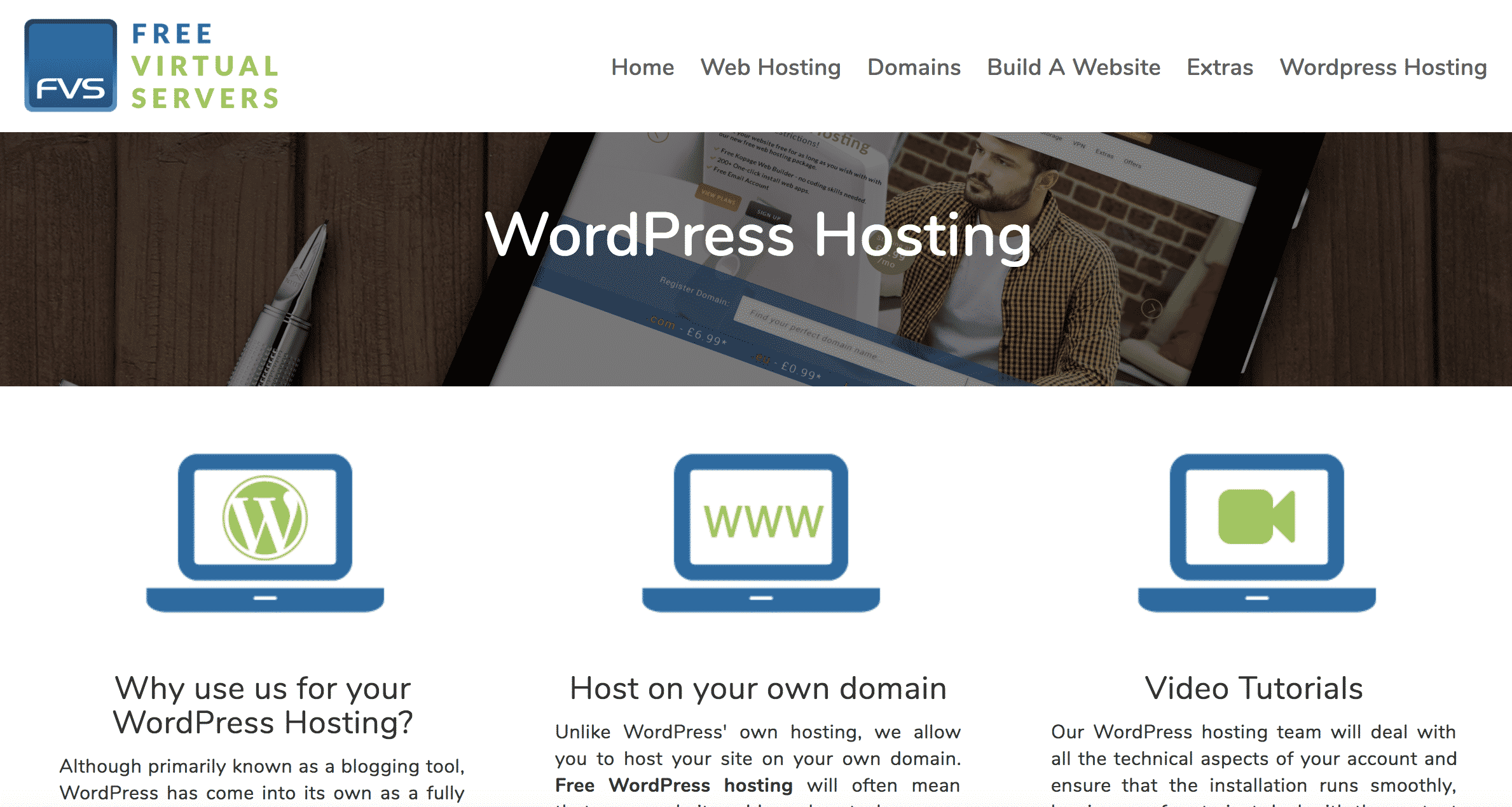 Free Virtual Servers WordPress Hosting